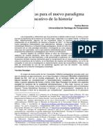 Barros. Propuesta Para El Nuevo Paradigma Educativo de La Historia