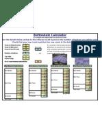 Buttonhole Calculator - Excel