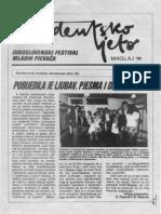"""Studentsko ljeto 1990. Specijalni prilog lista """"Natron"""""""