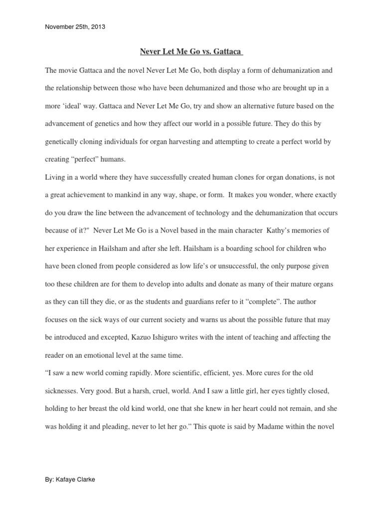 Comparison Essay Never Let Me Go Vs Gattaca