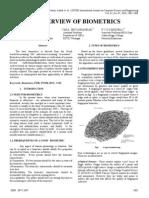 An Overview of Biometrics IJCSE10!02!07-61