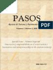 PASOS18 2009 Innovacion y Emprenduria