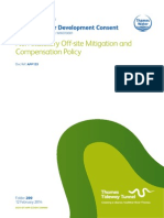 Non-statutory Off-site Mitigation and Compensation Policy