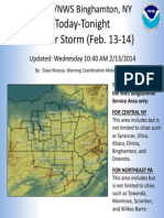 National Weather Service Winter Storm Briefing 02 13 14