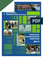Catalog Cercetare UTBV 2013