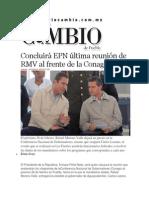 13-02-2014 Diario Matutino Cambio de Puebla - Concluirá EPN última reunión de RMV al frente de la Conago.pdf