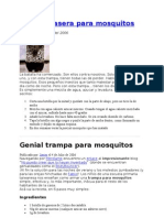 Trampa Casera Para Mosquitos