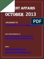 October 2013 Current Affairs