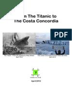 From Titanic to Costa Concordia
