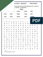 Word Search Irr Pt Verbs Advanced