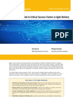 A Guide to Critical Success Factors in Agile Delivery Summary