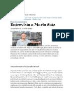 Entrevista a Mario Satz