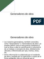 Numeros Generadores de Obra