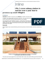 State-Of-The-Art Rs 1 Crore Railway Station in Patna Lies Disused for Over a Year Due to Protests by Local Villagers _ Mail Online