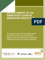 Defra EmbeddedCarbon Main