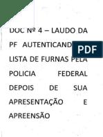 Lista de Furnas - Perícia do Instituto Nacional de Criminalística da Polícia Federal