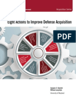 Eight Actions to Improve Defense Acquisition Summary