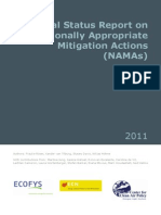 Ecofys - Annual Status Report on Nationally Appropriate Mitigation Actions (NAMAS)