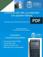 Control de UN-Niti un minirobot con alambre Nitinol