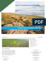 2013 Annual Report on Utah's Environment