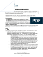 BBA Guidelines Understanding the Balance Sheet 2010
