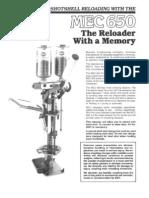 MEC 650 Progressive Reloader instructions