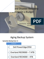 Backup and Disaster Recovery Planning on a Budget