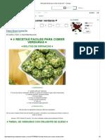 4 Recetas fáciles para comer verduras ♥ - Taringa!