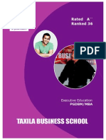 Taxila Business School EMBA Brochure