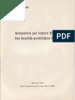 Auswärtiges Amt - Weissbuch - Urkunden zur letzten Phase der deutsch-polnischen Krise (1939)