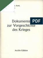 Auswärtiges Amt - Weissbuch Nr. 2 - Dokumente zur Vorgeschichte des Krieges (1939, Scan)