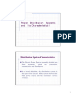 Power Distribution Systems and Its Characteristics I