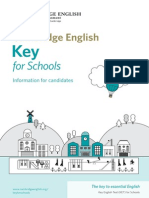 149925 Key for Schools Information for Candidates 2013