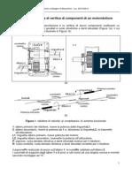 Traccia di Relazione Tecnica sulla verifica statica e a fatica della ruota dentata