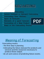 Presentation on Forecasting
