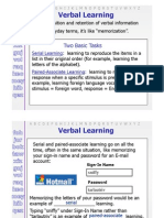 Verbal Learing