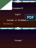 Grammar II- Infinitive vs Gerund