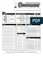 Shadowrun -Third Edition Shadowrun - Character Sheets