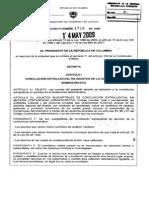 Decreto 1716 2009, Sobre Conciliacion Administrativa