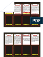 62271760 Vehicle Cards for 2nd Edition 40K