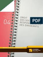 Les Cahiers Juridiques n 4 Droit Des Societes Et Responsabilite Des Dirigeants