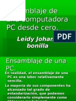 """Ensamble de Una pc """" Leidy Bonilla"""" 11 1"""