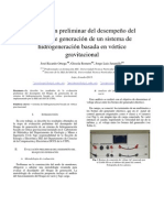 evaluación preliminar del desempeño del bloque de generación de un sistema de hidrogeneración basada en vórtice gravitacional