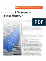 A Critical Moment in Swiss History?