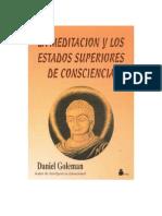 Goleman Daniel - La Meditacion Y Los Estados Superiores de Conciencia