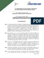 Acuerdo MRL e IESS para implementar el Sistema Nacional de Prevención de Riesgos Laborales enero 2.014