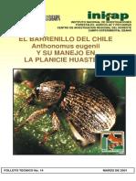 El Barrenillo Del Chile Anthonomus Eugenii y Su Manejo en La Planicie Huasteca