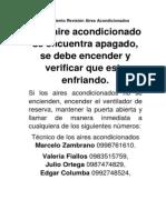 Procedimiento Revisión Aires Acondicionados