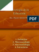 Conceptos Generales de La Sociologia de La Educacion