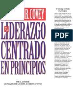 Covey Stephen R - El Liderazgo Centrado en Principios